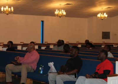 Men being taught on The God Factor