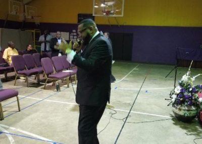 Bishop Newton ministering