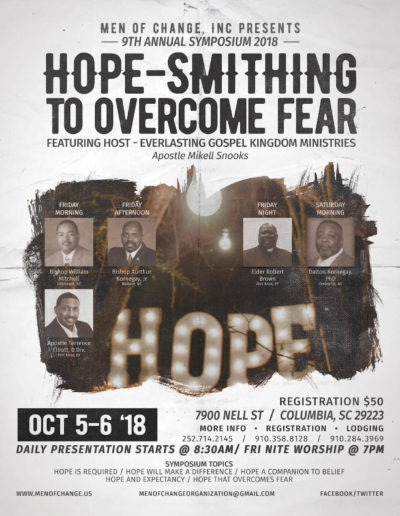 Hope-Smithing to Overcome Fear Symposium 2018